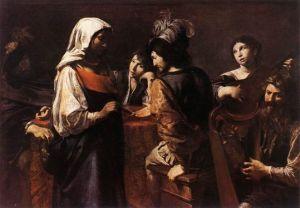 La Diseuse de bonne aventure, Valentin de Boulogne, vers 1628, Musée du Louvre